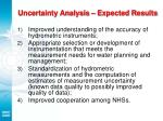 uncertainty analysis expected results