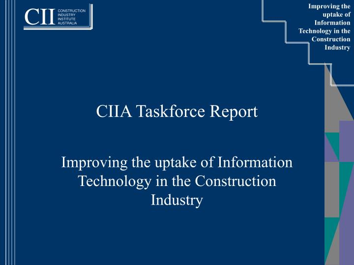 ciia taskforce report n.