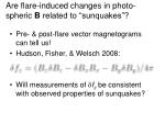 are flare induced changes in photo spheric b related to sunquakes