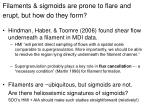 filaments sigmoids are prone to flare and erupt but how do they form