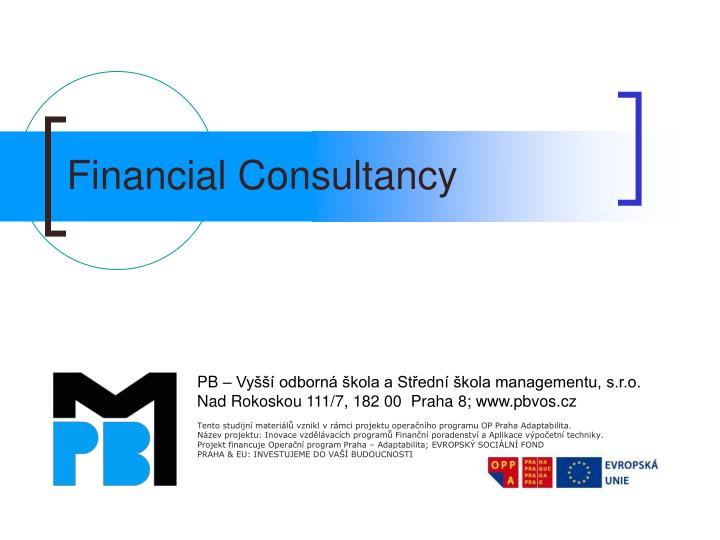 financial consultancy n.
