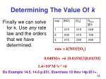 determining the value of k