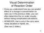visual determination of reaction order