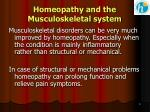 homeopathy and the musculoskeletal system