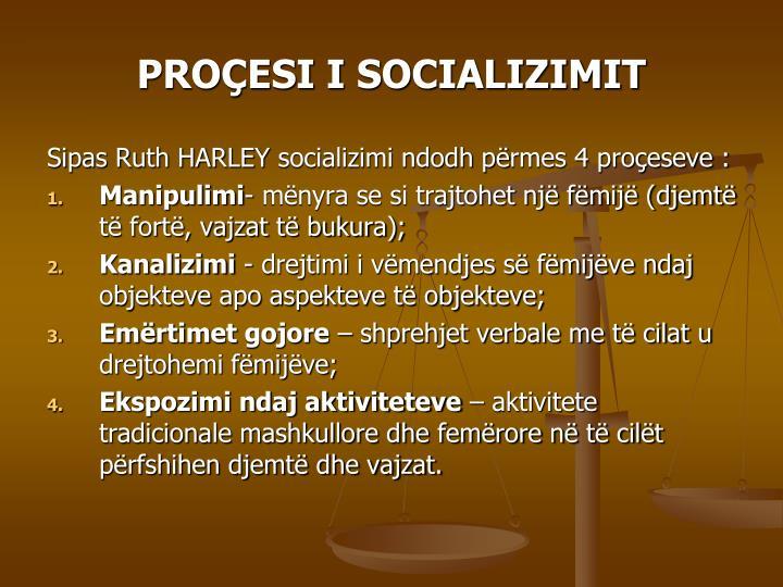 PROÇESI I SOCIALIZIMIT