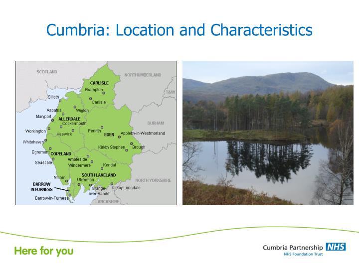 Cumbria location and characteristics