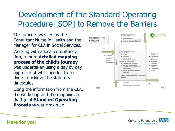 Development of the Standard Operating
