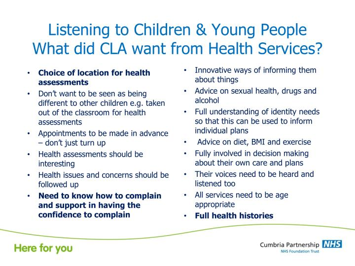 Listening to Children & Young People