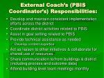 external coach s pbis coordinator s responsibilities