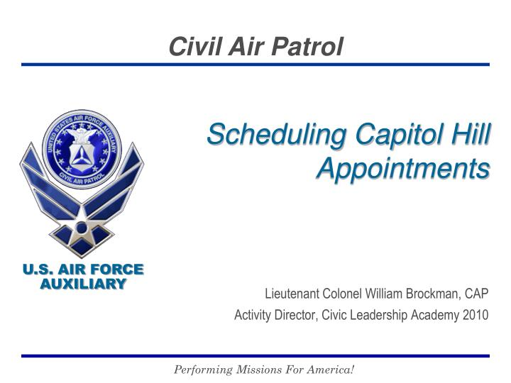 scheduling capitol hill appointments n.