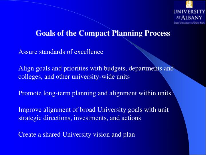Goals of the Compact Planning Process