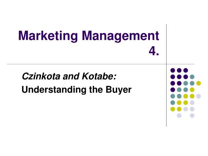 marketing management 4 n.