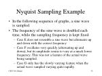 nyquist sampling example