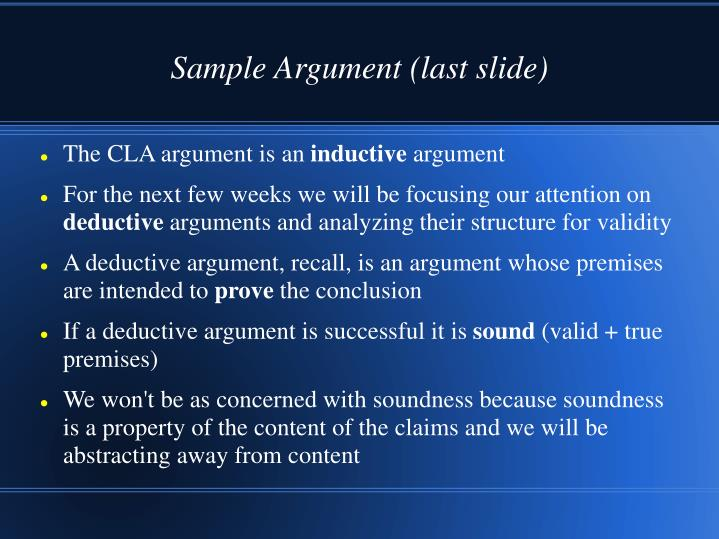 fallacious argument essay 1 fallacious arguments considering the fallacies discussed in chapter four of an introduction to logic, construct three different arguments that display distinct fallacies give an explanation of why each makes a mistake in drawing the conclusion it does.