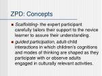 zpd concepts