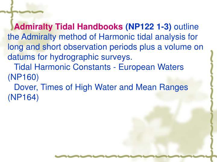Admiralty Tidal Handbooks