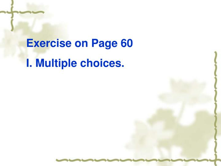 Exercise on Page 60