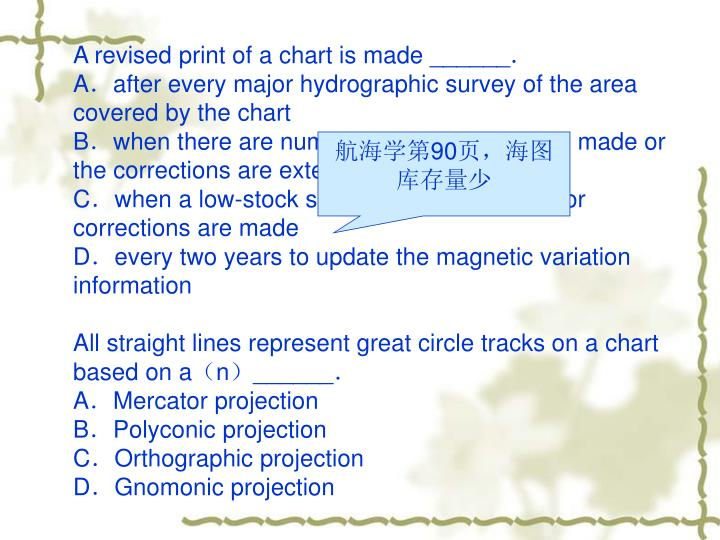 A revised print of a chart is made ______