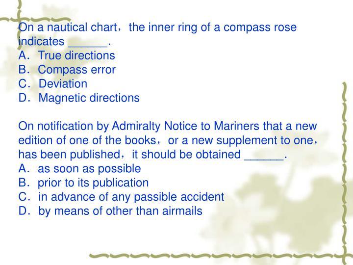 On a nautical chart