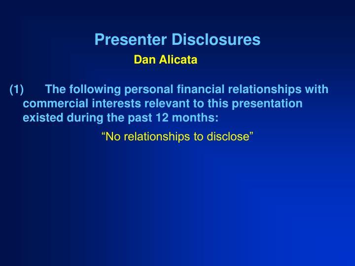 presenter disclosures n.