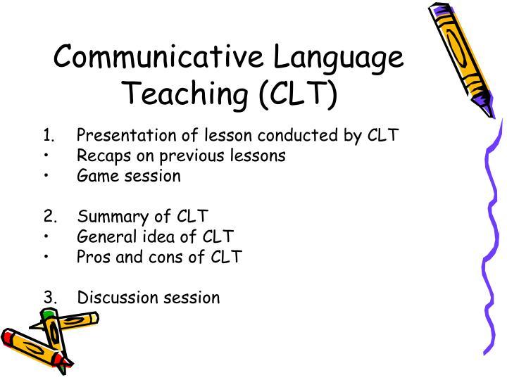 Communicative language teaching clt1