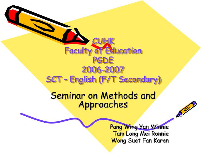 Cuhk faculty of education pgde 2006 2007 sct english f t secondary