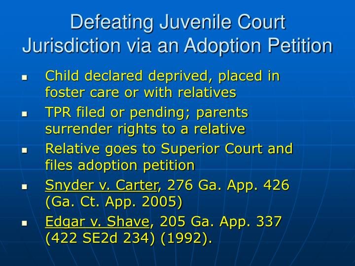 Child declared deprived, placed in foster care or with relatives