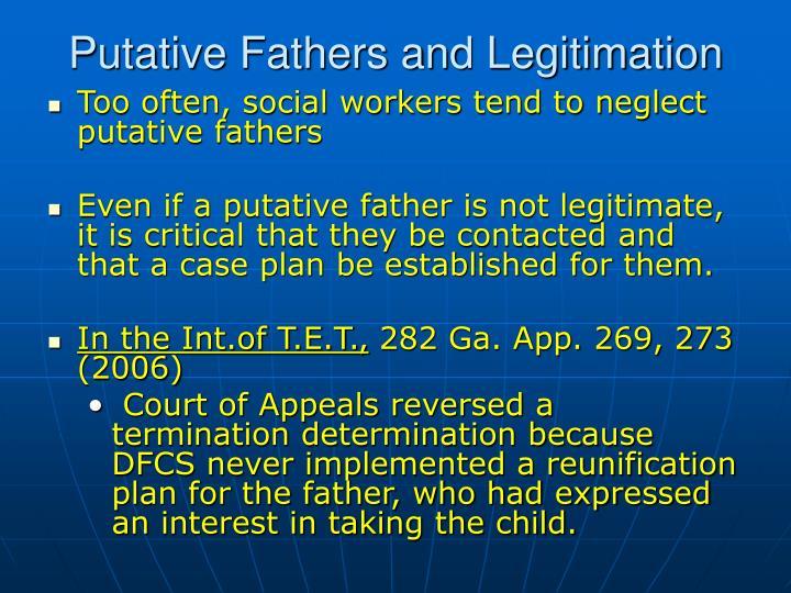 Putative Fathers and Legitimation