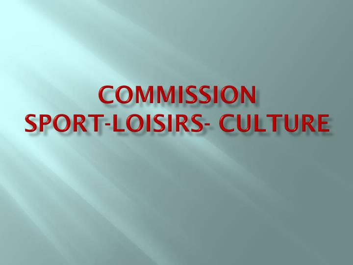 """Résultat de recherche d'images pour """"commission des sports et loisirs"""""""