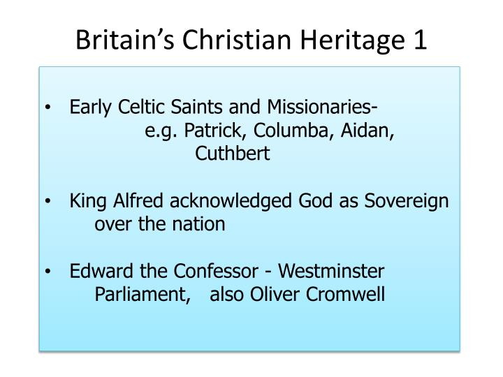 Britain's Christian Heritage 1