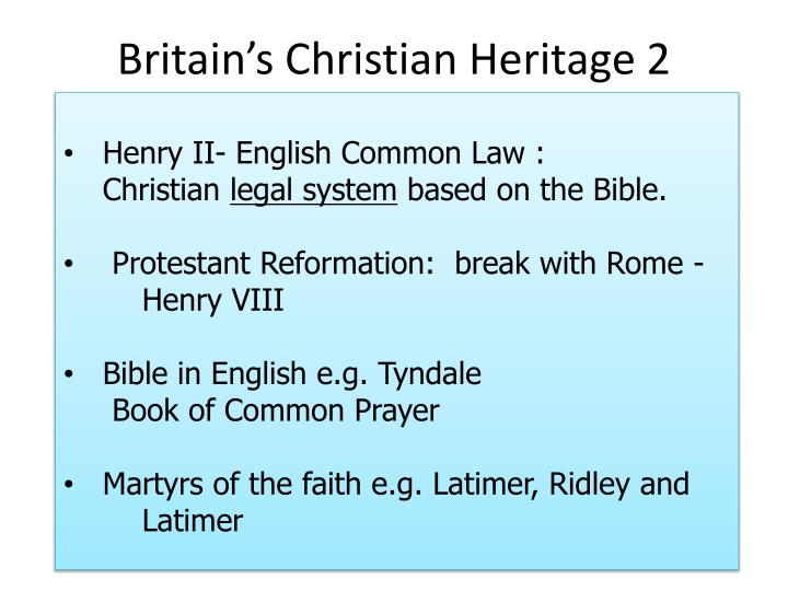 Britain's Christian Heritage 2