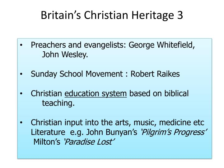Britain's Christian Heritage 3