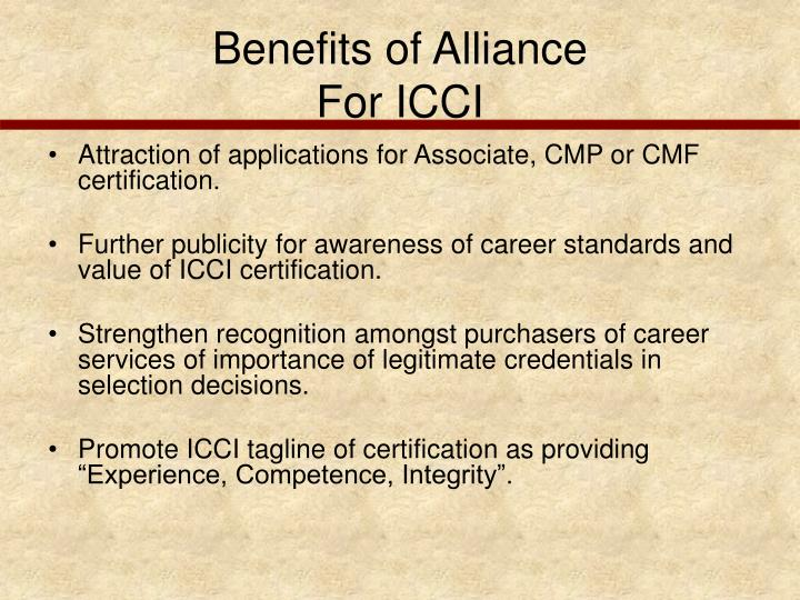Benefits of Alliance