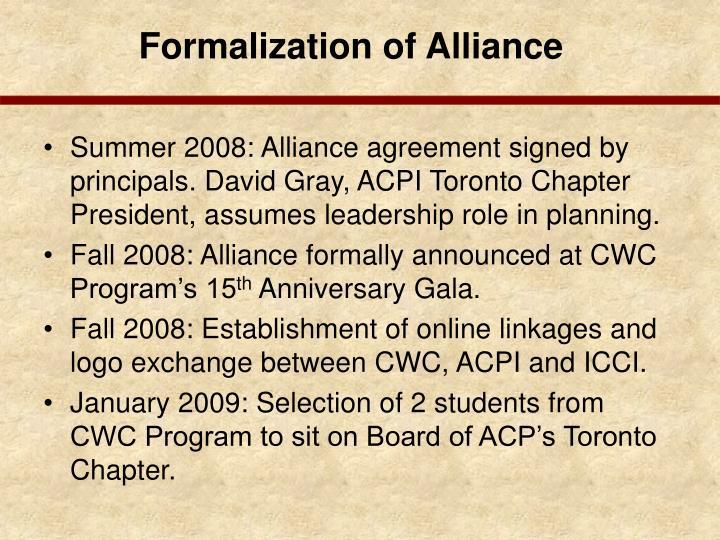 Formalization of Alliance