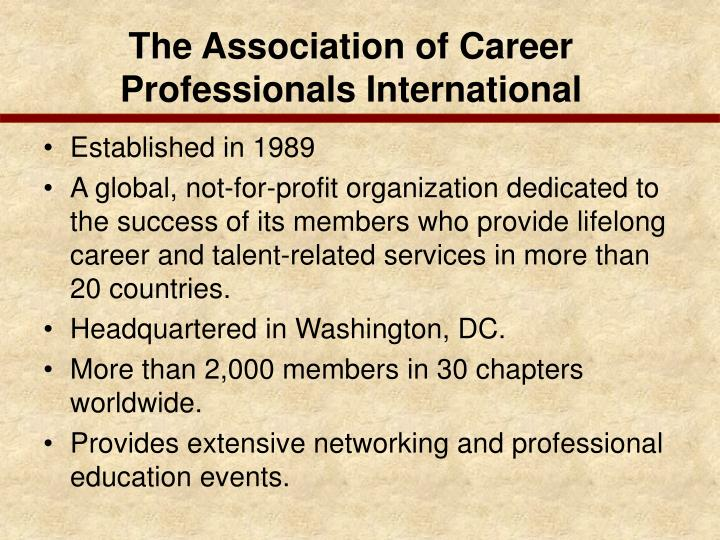 The Association of Career Professionals International