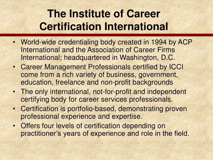 The Institute of Career