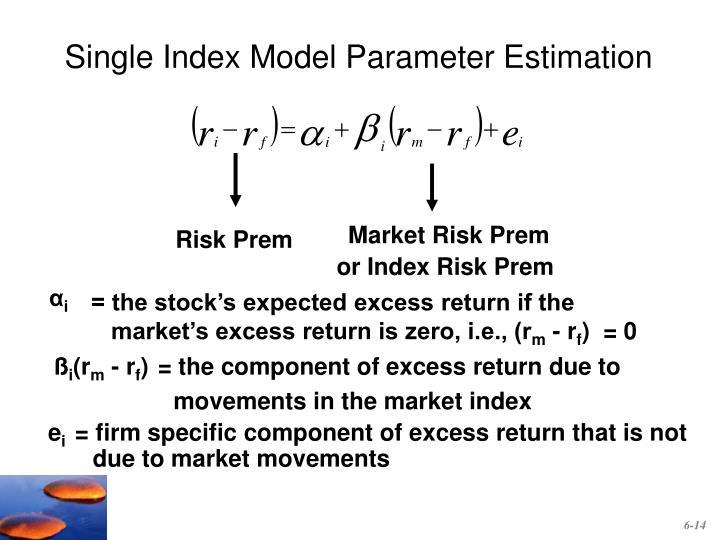 Single Index Model Parameter Estimation