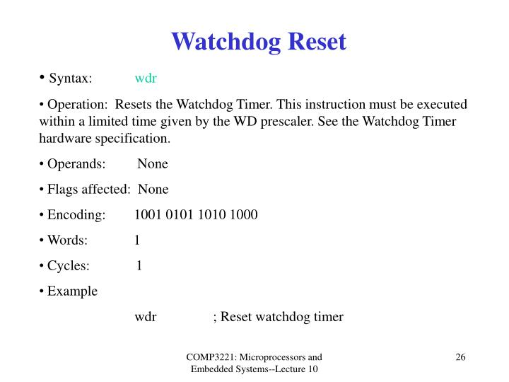 Watchdog Reset