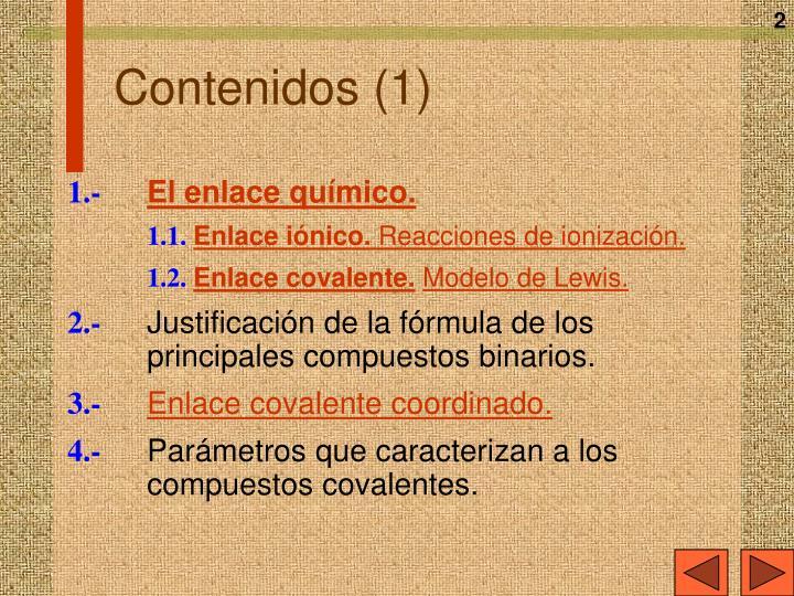 Contenidos 1