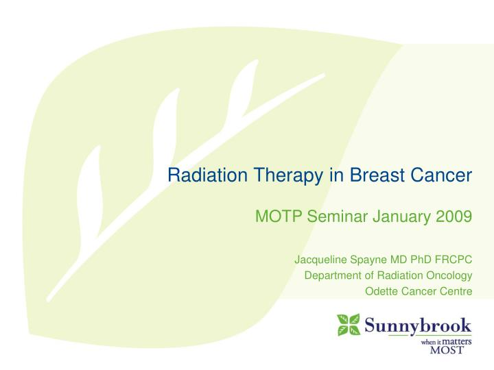 radiation therapy in breast cancer n.