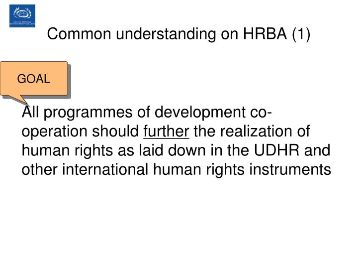 Common understanding on HRBA (1)