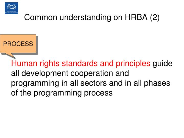 Common understanding on HRBA (2)