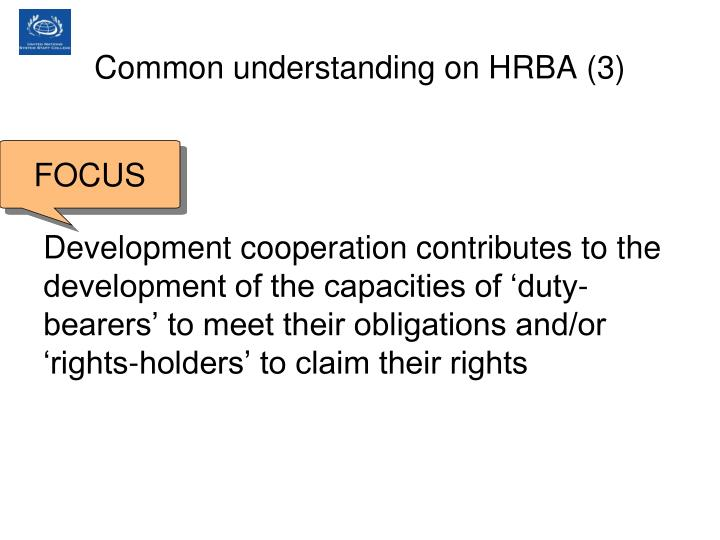 Common understanding on HRBA (3)