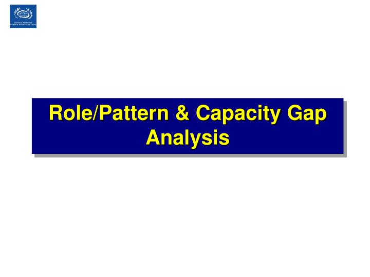 Role/Pattern & Capacity Gap Analysis