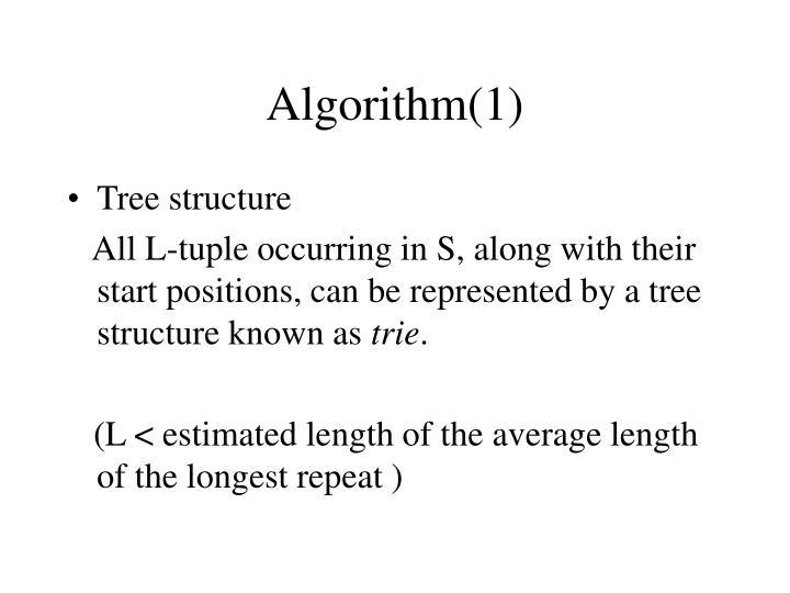 Algorithm(1)