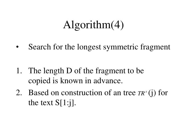 Algorithm(4)