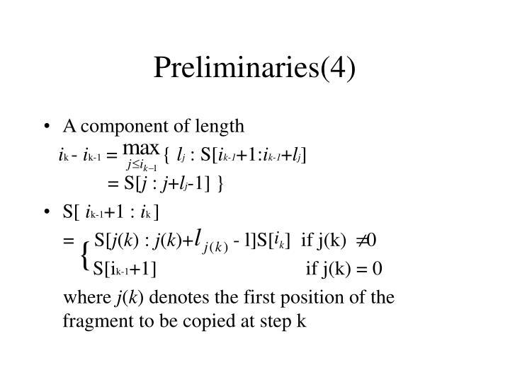 Preliminaries(4)