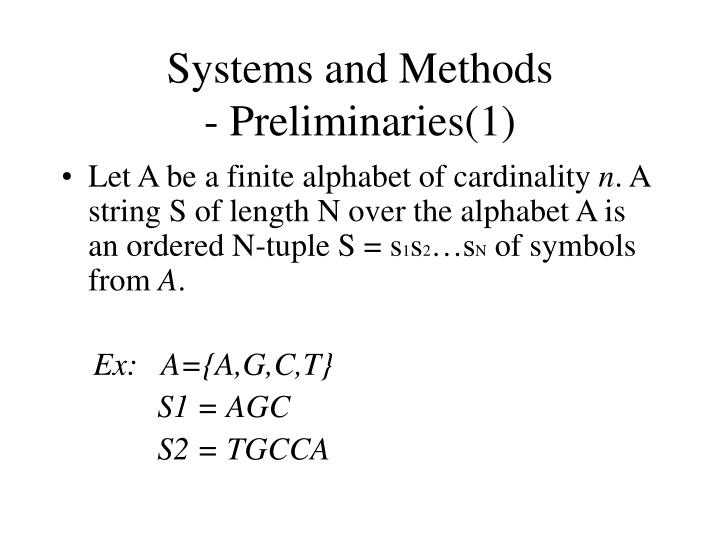 Systems and Methods