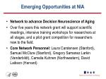 emerging opportunities at nia1
