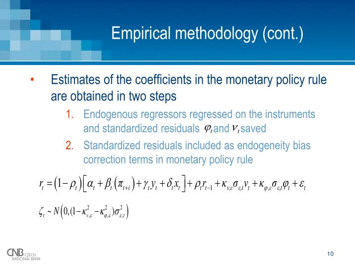 Empirical methodology (cont.)